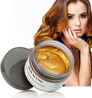 Mofajang Hair Wax Dye Styling Cream Mud, Natural Hairstyle Color Pomade, Washable Temporary, Gold
