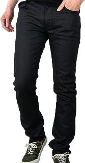 Finn - Pantalones vaqueros finos para hombre, color negro