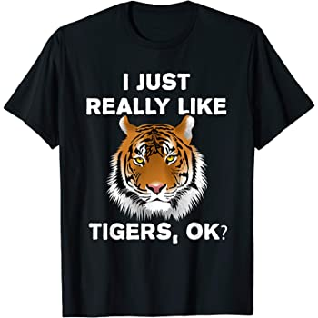 Kids//Youth Funny Tiger and Dog T-Shirts Short Sleeve Children Tees
