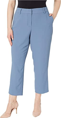Plus Size Parisian Crepe Straight Leg Crop Pants