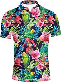 Summer Hawaiian Men's Short Sleevee Pique Polos T-Shirts