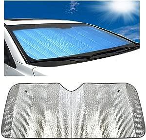 DaoRier car sunshield front windshield protection car double-sided aluminum foil sunblind folding easy storage 140
