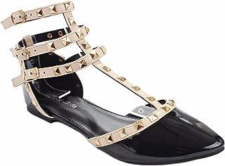 Designer Rivet Studded Pointed/Round Toe Dress Ballet Flat Shoes