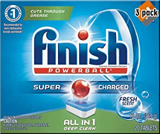 Finish All in 1 Powerball Fresh, 20ct, Dishwasher Detergent Tablets - 3 Pack