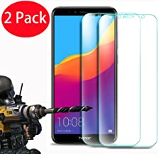 2 Pack - Honor 7A / Huawei Y6 2018 / Y6 Prime 2018 Tempered Glass, FoneExpert Tempered Glass Crystal Clear LCD Screen Protector Guard & Polishing Cloth for Honor 7A / Huawei Y6 2018 / Y6 Prime 2018