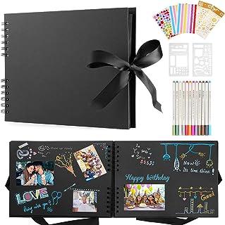 Album Photo Scrapbooking, Albums Photos DIY avec 12 Stylos MéTalliques, 80 Pages Scrapbooking Livre Fait à La Main DIY Alb...
