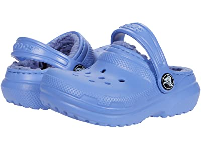 Crocs Kids Classic Lined Clog (Toddler/Little Kid/Big Kid) (Lapis) Kids Shoes