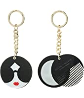 Alice + Olivia - Mirror Comb Key Charm