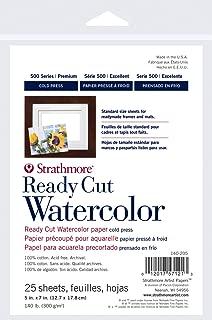 Strathmore 140-205 Ready Cut Watercolor, Cold Press, 5