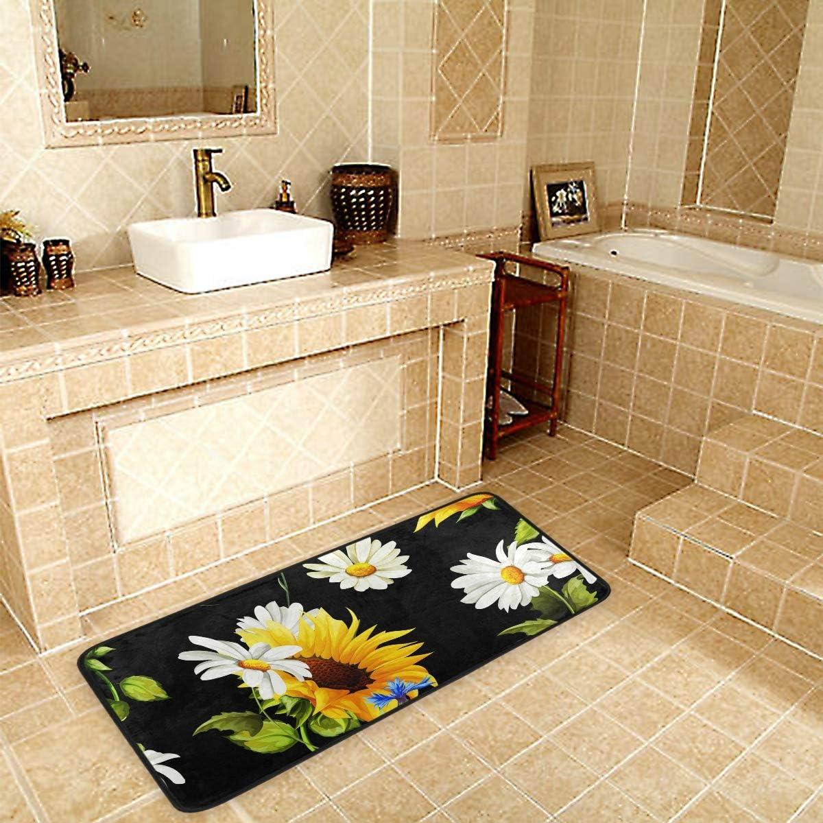 Kitchen Rugs Runner Nippon regular agency Sunflowers Chamomile Cheap bargain Doormat Bath S Non