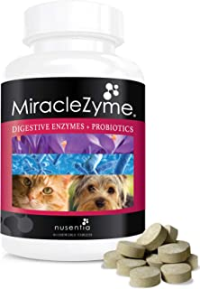 Probiotics for Dogs with Enzymes -Chewables (90ct) -Cats and Dog Tablets-Complete Digestive Remedy for Pets, Controls Gas,...