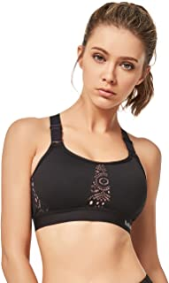 Yvette Sports Bra Adjustable Straps Wirefree Workout Yoga Bra High Impact