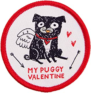 Ohh Deer My Puggy Valentine Single Woven Patch