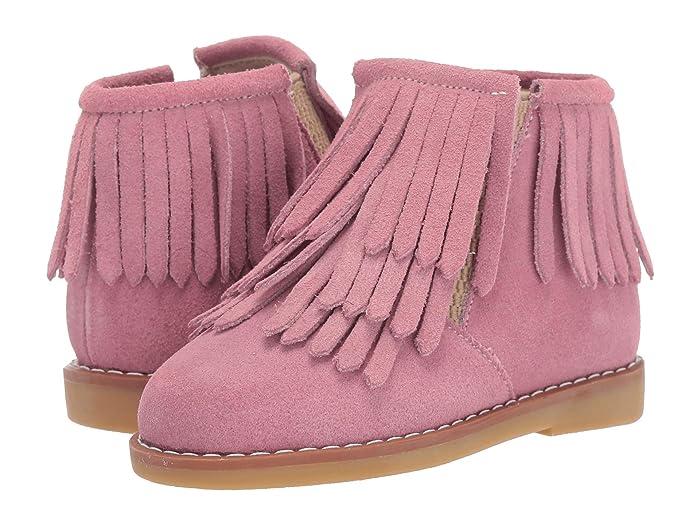Elephantito  Triple Fringes Suede Bootie (Toddler/Little Kid/Big Kid) (Pink) Girls Shoes