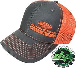 Diesel Power Plus Ford Powerstroke Richardson 112 hat Truck Charcoal Gray Orange mesh snap Back