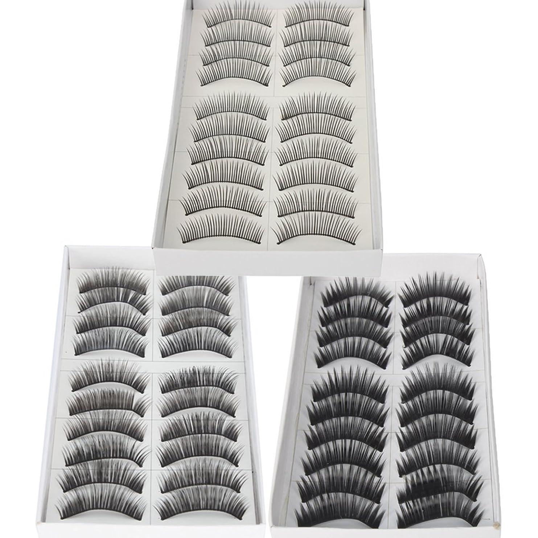 傾向があるケーキであること30 Pairs of Natural & Regular Long False Eyelashes Eye Lashes
