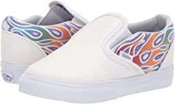 08dca1b077575e (Sparkle Flame) Rainbow True White. 99. Vans Kids. Classic Slip-On (Infant  Toddler)