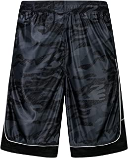 HQUEC Men's Cool Basketball Shorts Quick-Dry Gym Running Shorts with Side Pockets