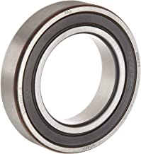 FAG 6004-2RSR-C3 Deep Groove Ball Bearing, Single Row, Double Sealed, Steel Cage, C3 Clearance, Metric, 20mm ID, 42mm OD, 12 mm Wide 12000rpm Maximum Rotational Speed, 1120lbf Static Load Capacity, 2100lbf Dynamic Load Capacity