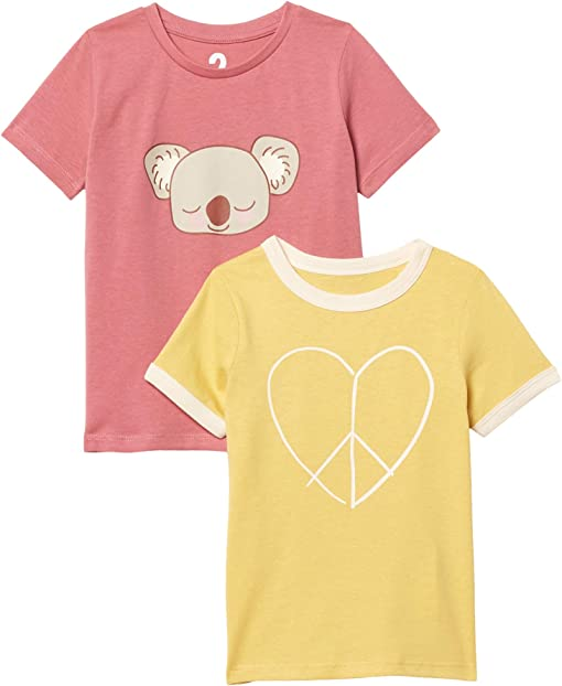 Corn Silk Peace Heart/Very Berry Koala