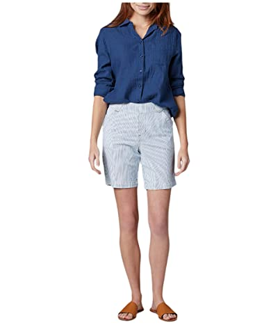 Jag Jeans 8 Gracie Pull-On Shorts in Denim (Bleach Wash) Women