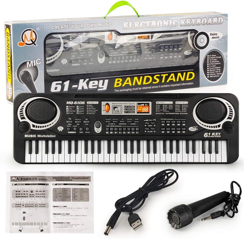 OUYAWEI 61 Keys Kids Piano Electronic Multifunction Keyboard Piano Musical Instrument USB Cable