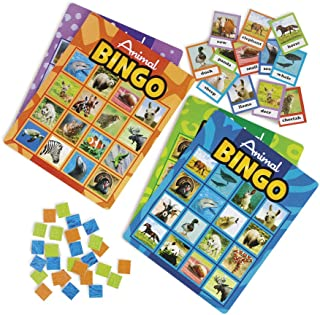 Fun Express Animal Bingo Game For Kids, Animal Recognition, Educational Games For Classroom