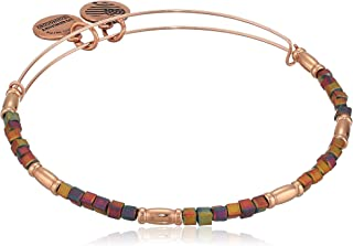 Alex and Ani Women's Zephyr Charm Bangle Matte Plum, Shiny Rose Gold