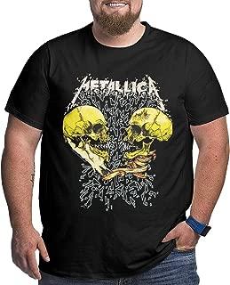 Mens Big Size Classic Metallica Tshirt Black