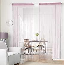 Hsylym Rideau /à franges compos/ées de perles en plastique 90x200cm gris Polyester