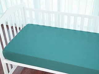 turquoise crib sheet