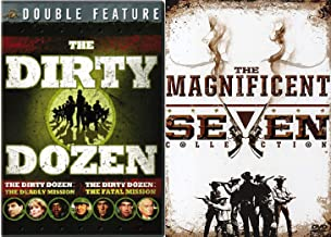 12 Convicts & 7 Outlaws Epic Movie Collection DVD Dirty Dozen Deadly Mission / Fatal + Magnificent Seven / Return / Guns & Ride 6 War & Western Film Set