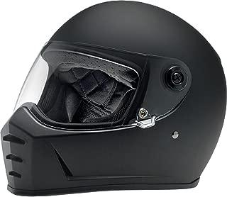 Biltwell Lane Splitter Solid Full-face Motorcycle Helmet - Flat Black/Small