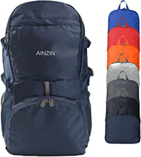 AINZIN 35L Lightweight Packable Durable Water Resistant Travel Hiking Foldable Backpack - Daypack Handy Foldable Camping Outdoor Cycling Backpack