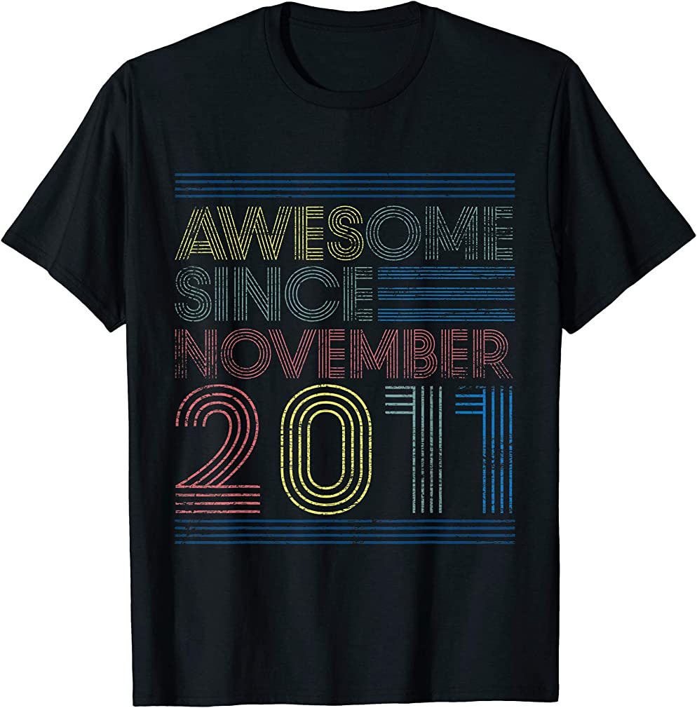 Awesome Since November 2011 Bday Gifts 9th Birthday T-shirt