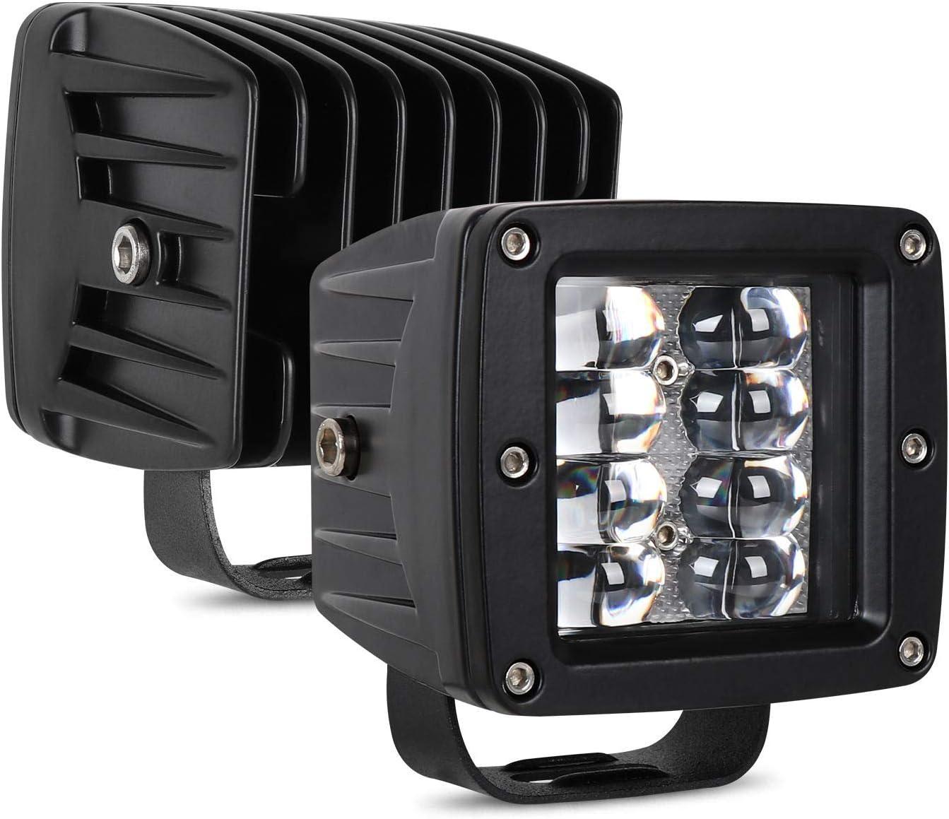 YEEGO 4 Offroad Lampe Quad Row Projecteur Phare LED 2PCS Barres de Travail LED pour Voiture Hors Route VTT VUS Phares de Travail Led UTV 2 x 40W Camionnette