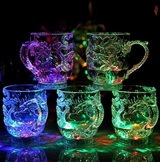 Windspeed 3D Dragon Embossed Led Light Up Beer Cup Shot Glass Bar Night Club Party Drink Cup