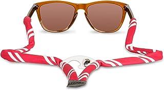 Gobi Straps - Sunglass Straps with Built-in Bottle Opener | Eyeglass Retainers, Sunglass Lanyard, Sunglass Cord | Quick Drying | Crimson & White