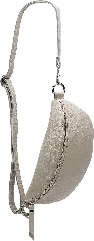 SH Leder /® Karla G359 Sac banane en cuir v/éritable pour homme et femme 27 x 15 cm