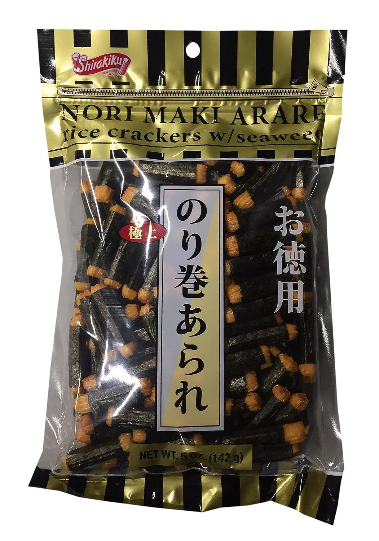 Nori Maki Arare Rice Crackers with Pack Denver Mall Seaweed 2 oz per 5 Genuine