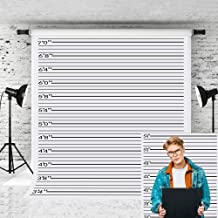 Best Little Lucky 5x7ft Police lineup Photography Backdrop Black line Mugshot Decor Photo Background for Photographer Bachelorette Party Children Game Prop Backdrops Shoot Studio Review