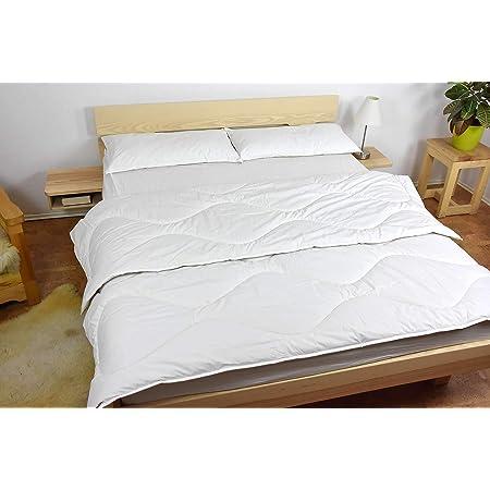 Couette 4-Saisons Hajla - Pure Laine - Coton Bio - 100% Naturelle - 400g/m² - 240x220cm
