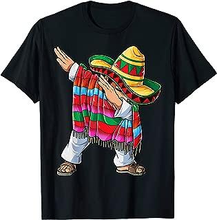 Dabbing Mexican Poncho Cinco de Mayo Men Sombrero Funny Dab T-Shirt
