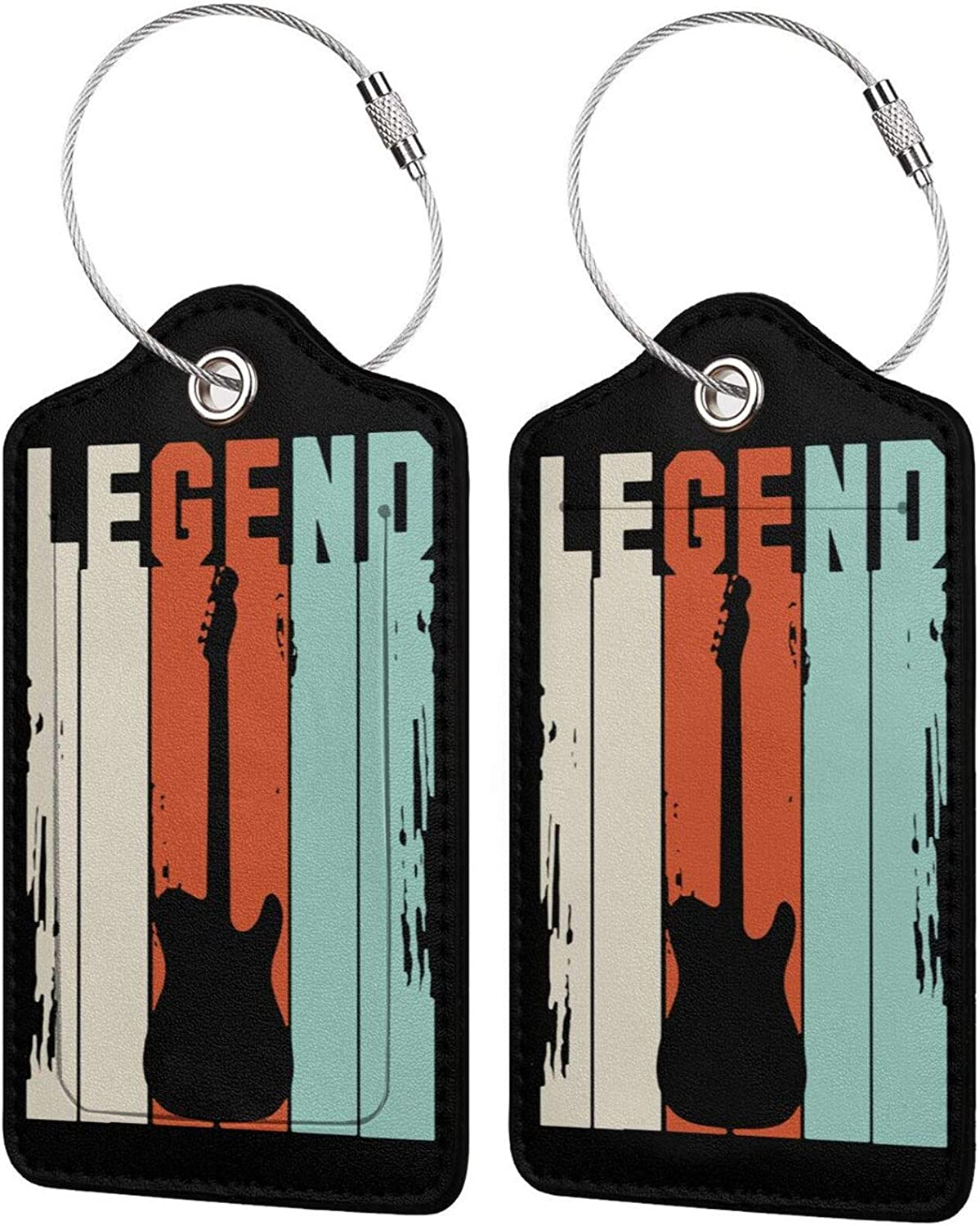 Cheap mail order Cheap sale shopping Vintage Legend Guitar PU Leather Priv Full Rectangle Luggage tag