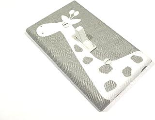 White and Gray Giraffe Light Switch Cover