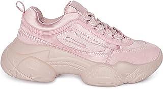Heel & Buckle London Women's Pink Chunky Sneaker Shoes