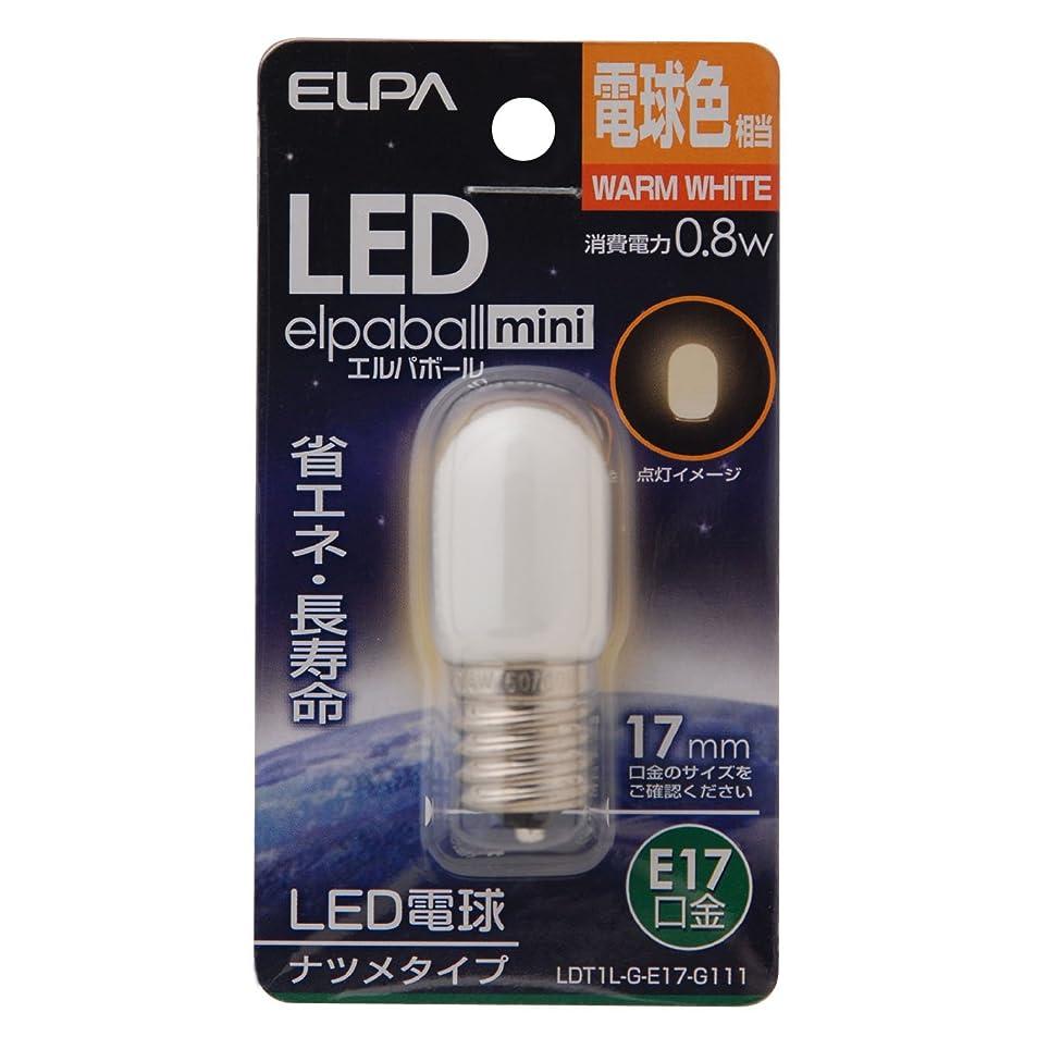 飢えた借りる金銭的ELPA エルパ LEDナツメ形E17 電球色 屋内用 省エネタイプ LDT1L-G-E17-G111