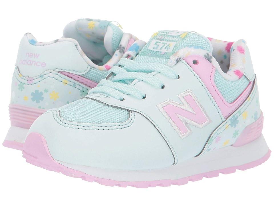 New Balance Kids 574 Spring Flowers (Infant/Toddler) (Crystal Sage/Crystal Rose) Girls Shoes