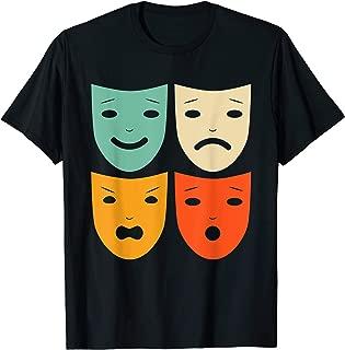 Vintage Theatre Masks Shirt Theater Actress Drama Actor Gift
