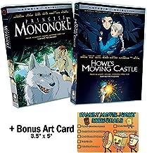 Hayao Miyazaki - Princess Mononoke & Howl's Moving Castle - 2 NEW DVD Studio Ghibli Classic Animated Movies Bundle + Bonus Art Card